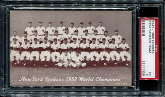 1947-1966 Exhibits Baseball New York Yankees Team PSA 5 (EX) *1306