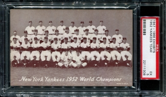 1947-1966 Exhibits Baseball New York Yankees Team PSA 5 (EX) *1308