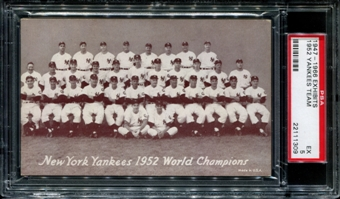 1947-1966 Exhibits Baseball New York Yankees Team PSA 5 (EX) *1309