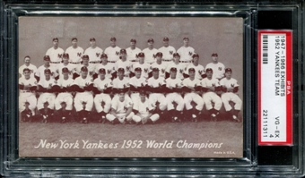 1947-1966 Exhibits Baseball New York Yankees Team PSA 4 (VG-EX) *1311