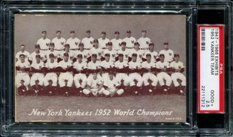 1947-1966 Exhibits Baseball New York Yankees Team PSA 2.5 (GOOD+) *1312