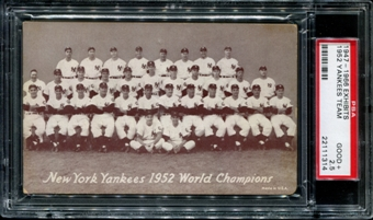 1947-1966 Exhibits Baseball New York Yankees Team PSA 2.5 (GOOD+) *1314