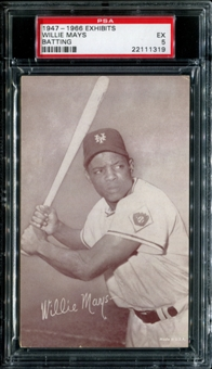 1947-1966 Exhibits Baseball Willie Mays (Batting) PSA 5 (EX) *1319