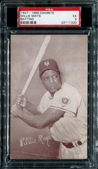 1947-1966 Exhibits Baseball Willie Mays (Batting) PSA 5 (EX) *1320