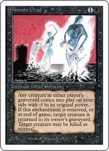 Magic the Gathering Unlimited Single Animate Dead UNPLAYED (NM/MT)