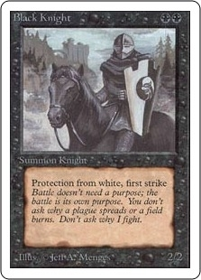 Magic the Gathering Unlimited Single Black Knight UNPLAYED (NM/MT)