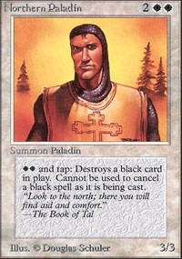 Magic the Gathering Unlimited Single Northern Paladin - NEAR MINT (NM)