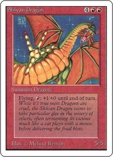 Magic the Gathering Unlimited Single Shivan Dragon - NEAR MINT (NM)