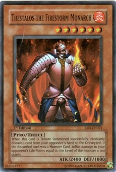 Yu-Gi-Oh Rise of Destiny Single Thestalos Firestorm Monarch Super Rare (RDS-021)