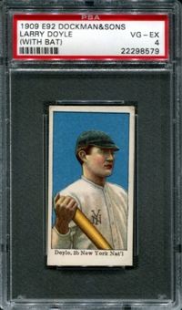 1909 E92 Dockman & Sons Larry Doyle (With Bat) PSA 4 (VG-EX) *8579