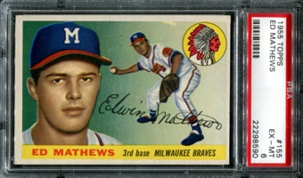 1955 Topps Baseball #155 Ed Mathews PSA 6 (EX-MT) *8590