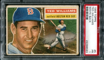 1956 Topps Baseball #5 Ted Williams PSA 1 (PR) *8593