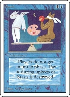 Magic the Gathering Unlimited Single Stasis - SLIGHT PLAY (SP)