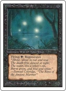 Magic the Gathering Unlimited Single Will-o'-the-Wisp - NEAR MINT (NM)