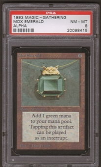 Magic the Gathering Alpha Single Mox Emerald PSA 8