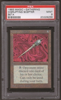 Magic the Gathering Beta Single Disrupting Scepter PSA 9
