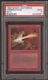 Magic the Gathering Beta Single Firebreathing PSA 9