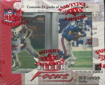 2001 Fleer Focus Football Hobby Box