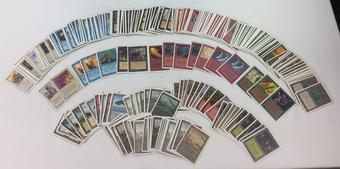 Magic the Gathering Unlimited ~225 Card Lot NEAR MINT through MODERATE PLAY