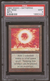 Magic the Gathering Beta Single Sol Ring PSA 9