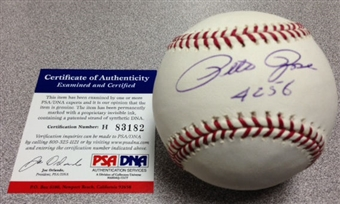 Pete Rose Autographed Official Major League Baseball (PSA COA)