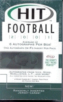 2001 Sage Hit Football Hobby Box
