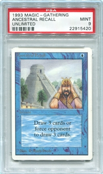Magic the Gathering Unlimited Single Ancestral Recall - PSA 9 *22915420*