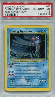 Pokemon Neo Revelation Single Shining Gyarados 65/64 - PSA 8 - *22915422*