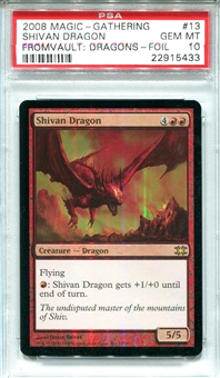 Magic the Gathering From The Vault: Dragons Single Shivan Dragon - PSA 10 - *22915433*