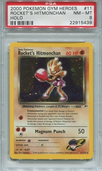 Pokemon Gym Heros Single Rocket's Hitmonchan 11/132 - PSA 8 - *22915439*