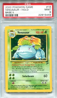 Pokemon Base Set 2 Single Venusaur 18/130 - PSA 9 - *22915449*