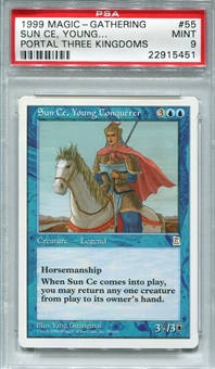Magic the Gathering Portal Three Kingdoms Single Sun Ce Young Conquerer - PSA 9 -*22915451*