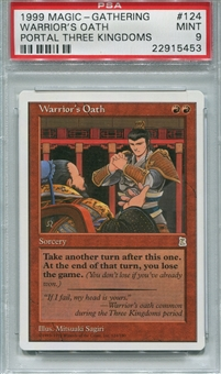 Magic the Gathering Portal 3 Kingdoms Single Warrior's Oath - PSA 9 *22915453*