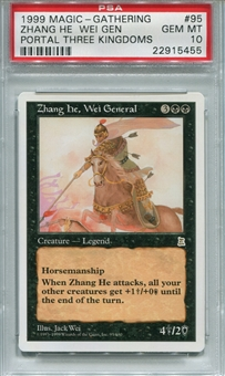 Magic the Gathering Portal Three Kingdoms Single Zhang he Wei General  - PSA 10-*22915455*