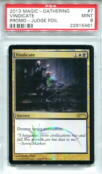 Magic the Gathering Promo Single Vindicate Judge Foil - PSA 9 - *22915461*