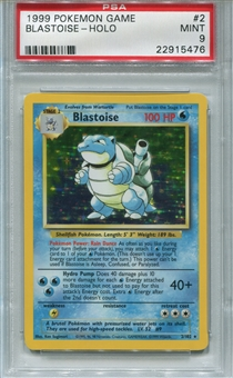 Pokemon Base Set 1 Single Blastoise 2/102 - PSA 9 - *22915476*