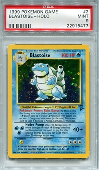 Pokemon Base Set 2 Single Blastoise 2/130 - PSA 9 - *22915477*