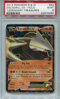 Pokemon Legendary Treasures Single Excadrill EX 82/113 - PSA 9 - *22915490*