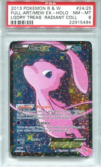 Pokemon Legendary Treasures Single Mew EX RC24/RC25 - PSA 8 - *22915494*
