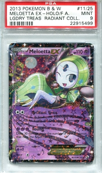 Pokemon Legendary Treasures Single Meloetta EX Full Art 11/25 - PSA 9 - *22915499*