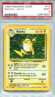 Pokemon Base Set 1 Single Raichu 14/102 - PSA 9 - *22915507*