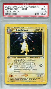 Pokemon Neo Genesis Single Ampharos 1/111 1st Edition - PSA 9 - *22915527*