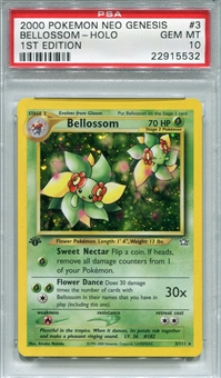 Pokemon Neo Genesis Single Bellossom 3/111 1st Edition - PSA 10 - *22915532*