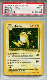 Pokemon Base Set 2 Single Raichu 16/130 - PSA 9 - *22915546*