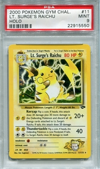Pokemon Gym Challenge Single Lt. Surge's Raichu 11/132 - PSA 9 - *22915550*