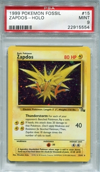 Pokemon Fossil Single Zapdos 15/62 - PSA 9 - *22915554*