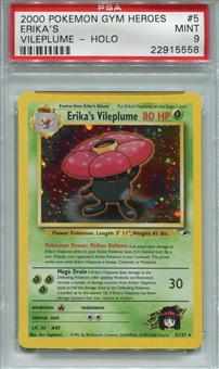 Pokemon Gym Heroes Single Erika's Vileplume 5/132 - PSA 9 - *22915558*