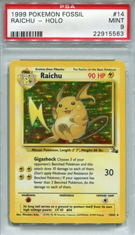 Pokemon Fossil Single Raichu 14/62 - PSA 9 - *22915563*