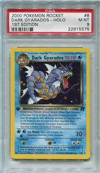 Pokemon Team Rocket Single Dark Gyarados 8/82 1st Edition - PSA 9 - *22915575*