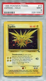 Pokemon Fossil Single Zapdos 15/62 - PSA 9 - *22915587*